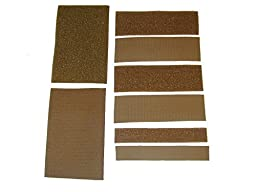 Uniform Hook and Loop Kit - Coyote Brown - Uniform Side and Patch Side Both Included - Coyote Brown