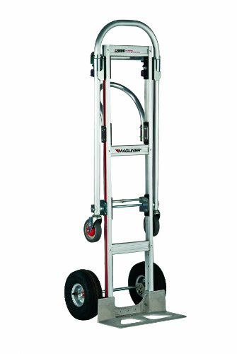 Magline GMK81UA4 Gemini Sr Convertible Hand Truck, Pneumatic Wheels, 500 lbs Load Capacity, 61″ Height, 55-3/4″ Length x 21″ Width