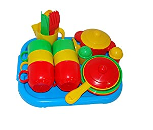 Wader Cookware Toy Set for Six with Tray