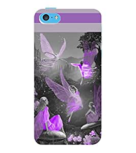 ColourCraft Dancing Angels Design Back Case Cover for APPLE IPHONE 5C