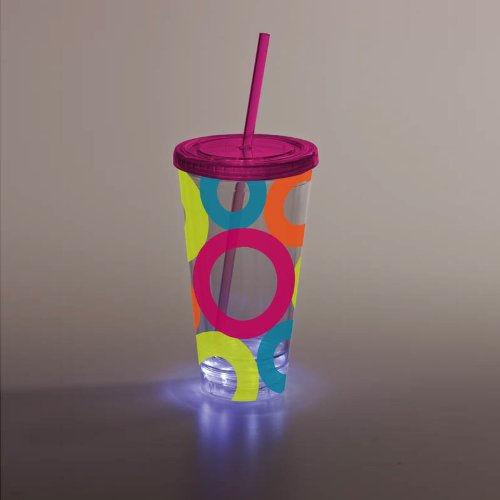 Bright Circles Led Insulated Cup front-970662