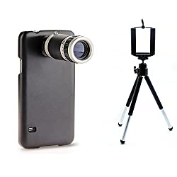 SAMSUNG S5 8X TELESCOPE LENS WITH BACK COVER/CASE & MOBILE TRIPOD