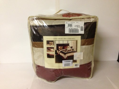 Sunham Home Abbey Road 8 Piece King Comforter Bed In A Bag Set Spice front-326950
