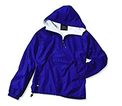 Charles River Apparel Women's Front Pocket Classic Pullover,Small,Purple