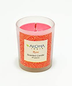 Aroma India Aroma India Scented Votive Glass Candle, Rose