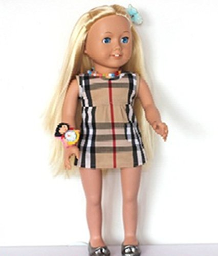 Salsy Fit 18 Inch Doll Summer Dress Stylish Plaid