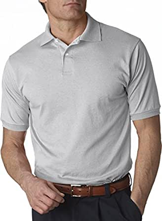 Jerzees 437 Mens 50% cotton/50% polyester SpotShield Polo - Silver - Small