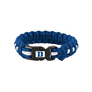 Buy Duke Blue Devils Official NCAA Adult S M 8 Long Survival Bracelet by Wincraft by WinCraft