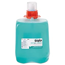 GOJO 5268-03 DPX ECO SOY Foaming Hand Cleaner, 2000 mL Refill, Blue-Green (Pack of 3)