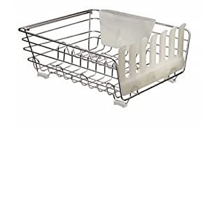 Rubbermaid Evolution Small Dish Drainer w/Loft, Chrome
