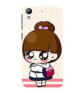 Fuson Premium Back Case Cover Cute baby with bag With Black Background Degined For HTC Desire 626::HTC Desire 626G Plus::HTC Desire 626G+