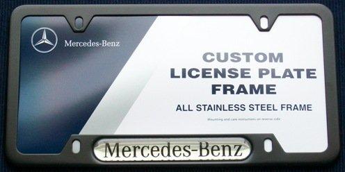 Season cheap sale best price genuine mercedes benz black for Mercedes benz license plate holder