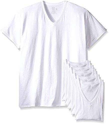 Fruit of the Loom Men's 6-Pack Stay-Tucked V-Neck T-Shirt