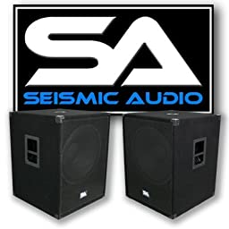 Seismic Audio - PACKAGE - Two 18 Inch PA Subwoofers PRO Audio Band Speaker Cabinets Sub - Band, Bar, Wedding, Karaoke, DJ, 18\