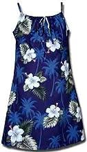 Palm Tree Hibiscus Hawaiian Dress - Girls Hawaiian Dress - Aloha Dress