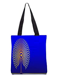 Snoogg Abstract Golden Tree Designer Poly Canvas Tote Bag