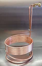 HomeBrewStuff 25\' Copper Immersion Chiller with Leak Proof Fittings and Raised Coil
