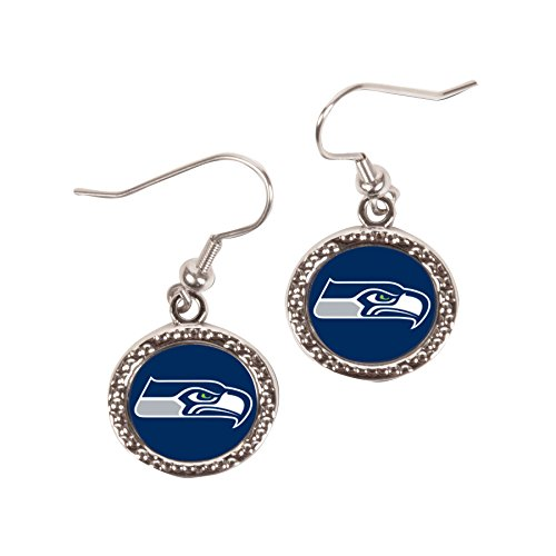 NFL-Seattle-Seahawks-Round-Earring