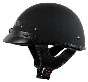 Vega XTS Rubber Half Helmet (Flat Black, Small)