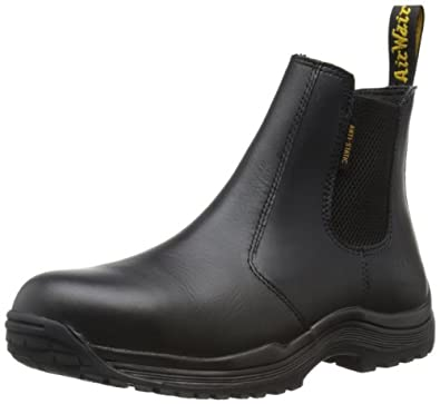 Dr. Martens 0014 Steel Toe Slip On Black Leather Men's Boot (7 F(M)UK/8 D(M)US, INDUSTRIAL FULL GRAIN/ACTION MIX)