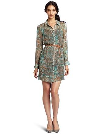 Kensie Women's Textured Snake Dress, Birch Combo, X-Small