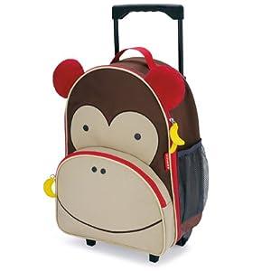 Skip Hop Zoo Little Kid Luggage, Monkey