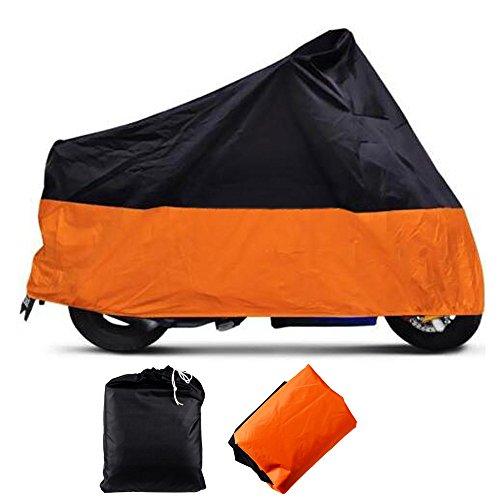 ANZIO Black-Orange XXL 2xl Extra Extra Large Weatherproof Motorcycle Cover Cruiser Touring Bike Storage (Extra Large Motorcycle Cover compare prices)