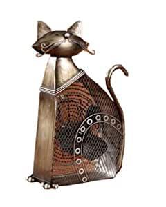 Deco Breeze DBF0358 Decorative Figurine 30-Watt Metal Fan, Cat