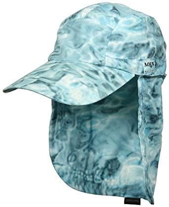 Aqua design men 39 s skyward camo long bill fishing cap and for Long bill fishing hat