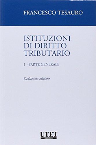 Istituzioni di diritto tributario Parte generale 1 PDF