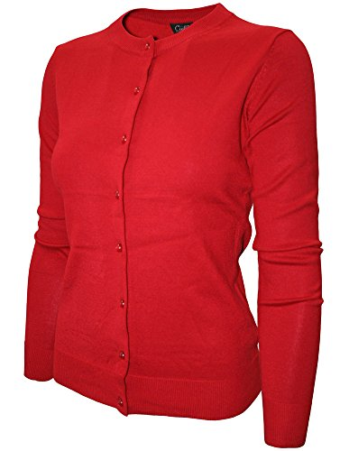 cielo-womens-round-neck-button-cardigan-large-red