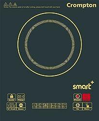 Crompton ACGIC - Smart Plus 2000-Watt Portable Induction Cooktop (Chrome Black)