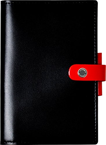 クオバディス 手帳 本革 カバー DUO 10x15cm ノワール&ルージュ