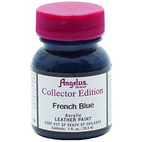Angelus Collector's Edition Acrylic Leather Paint - 1 Ounce, French Blue (Color: French Blue, Tamaño: 1 Ounce)