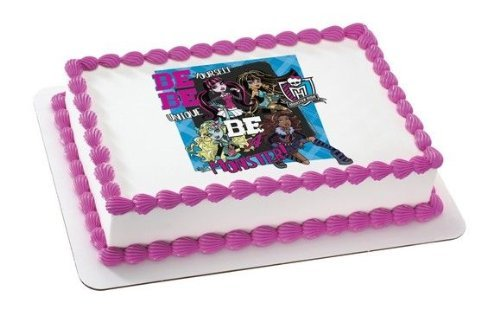 "8"" Round ~ Monster High Be Yourself Birthday ~ Edible Image Cake/Cupcake Topper!!! - 1"