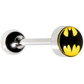 Batman Tongue Ring