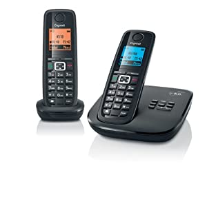 Gigaset A510A-2B DECT_6.0 2-Handset Cordless Telephone (Black)
