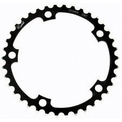 Rocket Alloy Non-Ramped Chainring 130mm 5 Bolt 38T Black/Silver