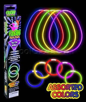 Fun Central M614 Glow in the Dark Bracelet and Necklace Kit - 1