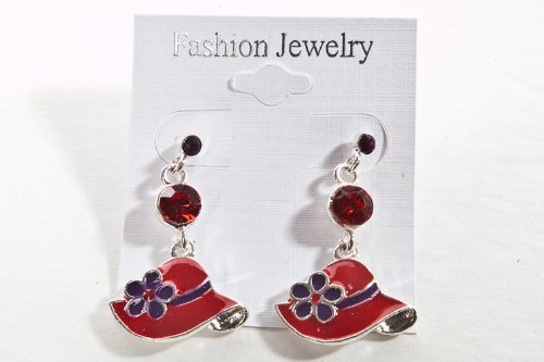 BLACK FRIDAY DEAL /// Red Hat Lady Society / Earrings / Great Gift For The Ladies!