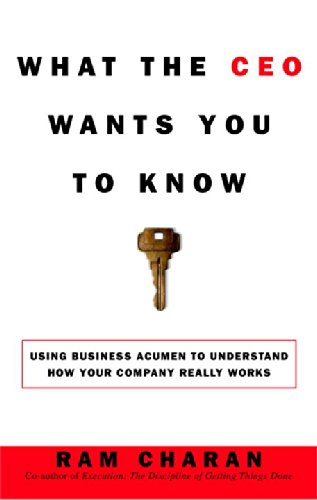 What the CEO Wants You to Know : How Your Company Really...