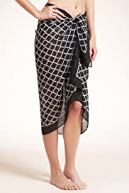 Geometric Print Waist Tie Sarong [T52-1336-S]