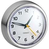 InterDesign Forma Suction Clock, Brushed Stainless Steel