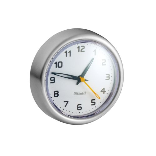 Interdesign Forma Suction Clock Brushed Stainless Steel