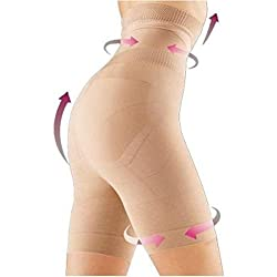 Evana Women's Polyester Strapless Shapewear (SSL1_Brown_Medium)