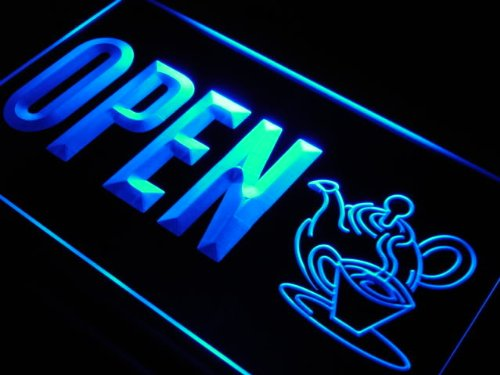 Adv Pro J745-B Open Tea Product Shop Display Led Light Sign