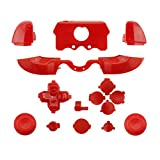WPS Matte ABXY Dpad Triggers Full Buttons Set Mod Kits for Newest Xbox One Controller (3.5mm Port) with Screwdriver (Torx T6 T8) Set (Red) (Color: Red)