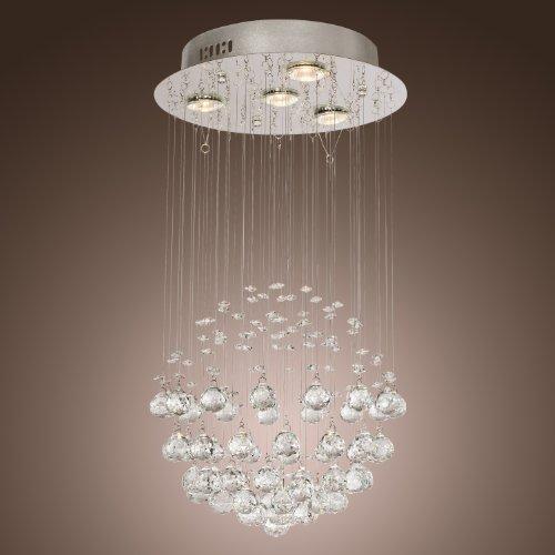 Lightinthebox® Chandelier Luxury Modern Crystal Bulb Included 4 Lights, Pendant Lights Ceiling Light Fixture For Living Room, Dining Room, Bedroom front-823901