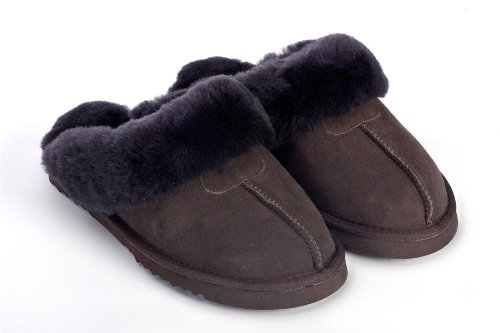 Cheap Sheep Touch Women's Twin-Face Australian Sheepskin Classic Slippers Chocolate (B00454MWGC)