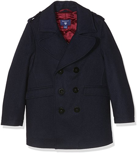 Gant Pea Coat, Giubbotto Bambino, Blu (Marine), 11-12 Anni